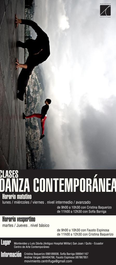 afiche clases de danza