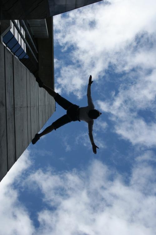 performance danza aérea para la Semana de Derechos Humanos 2008Foto: